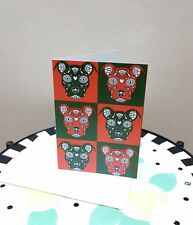 Sugar Skull Pit Bull Note Card (with envelope) - New - FREE SHIPPING