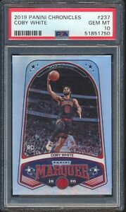 51851750 Coby White 2019 Panini Chronicles Marquee Rookie RC 237 PSA 10 GEM MINT