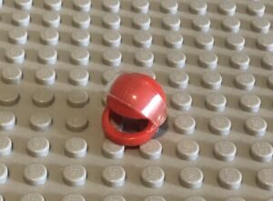 LEGO Red Minifig Helmet With Clear Face Shield