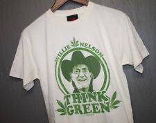 S * Nos vtg Willie Nelson t shirt * marijuana weed