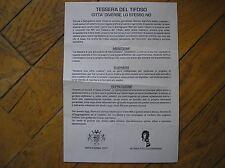 ULTRAS SAMPDORIA TITO CUCCHIARONI BOYS PARMA NO ALLA TESSERA DEL TIFOSO