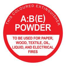 MEGAFire ABE POWDER FIRE EXTINGUISHER IDENTIFICATION SIGN 190x190mm *Aust Brand