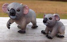 Custom Made Different Grey Koala Bear Set Marsupial Christmas Holiday Ornaments