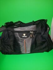 JEEP Authentic Sport Gear Travel Equipment Duffle Bag Black Grey Orange Star