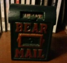 "Boyds Bear Mail, 3.75"" high cast iron, one of original Boyds Accessories. no tag"