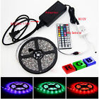 5M RGB 5050 Waterproof LED Strip light 300 SMD 44 Key Remote 12V Supply Power US