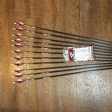 Easton Powerflight 340 Patriotic Arrows  With Blazer Vanes Custom Made Set of 12