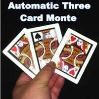 3pcs/lot Automatic Three Card Monte (Poker Size,8.8x6.4cm) Magic Tricks, Card