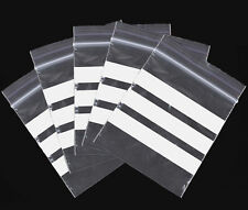 Grip Seal Re-Sealable Polythene Bags With Write-On Panel all sizes