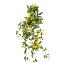 Yellow Artificial Morning Glory Trailing Spray Ideal for Hanging Baskets 848564