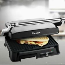 2000W Panini Électrique Contact Table Grill Thermostat Inox Sandwich Grille-Pain