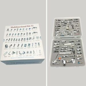 52 PCS Domestic Sewing Machine Foot Presser Feet Set For Singer Brother Janome