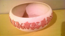 "ECanada Art Pottery Emery 1926 Jasperware  White & Pink 9"" Bowl"