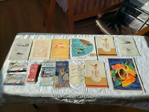 Lot of 15 vintage Matson Cruise Lines items - 1930s-50s menu, passenger list etc