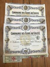 """10 x DECO => Compagnie des CLOUS """"AU SOLEIL"""" for 1€ ?"""