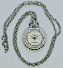 Ladies Vintage SHEFFIELD Pendent Watch. Moving Bezel, Swiss Made Mechanical