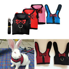 Small Pet Animal Rabbit Bunny Hamster Vest Mesh Harness Jacket Coat With Leash