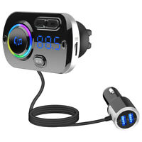 Bluetooth FM Transmitter MP3 Player Radio Adapter Super Fast Dual USB Charger