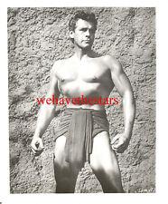 Vintage Gordon Scott Beefcake Muy Guapo Sexy Samson '61 Publicidad Retrato