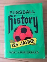 Altes Buch Fussball History 125 Jahre Statistik Sport + Spiel Verlag