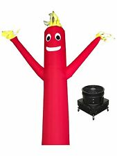 """20' Red Advertising Inflatable Wind Air Fly Tube Guy + 18"""" Blower"""