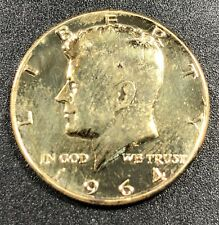 1964-P GOLD GILDED KENNEDY HALF DOLLAR SILVER SELECT UNC STUNNING BU CHOICE (MR)