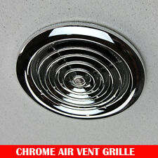 Chrome Air Vent Ceiling Grill Outlet Inlet Heat Recovery Duct Ventilation Fan 4""