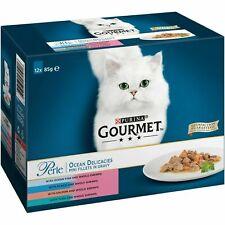 Gourmet Perle Ocean Delicacies Cat Wet Food 4 flavours - BOX OF 12