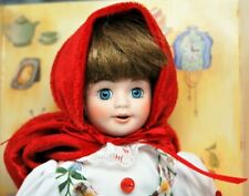 """Marie Osmond Story Book Little Red Riding Hood 7.5"""" Porcelain Doll Nrfb"""