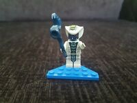 Ninjago Lego mini figure RATTLA GREY BLUE SNAKE  9456 9441 9579 with blue snake