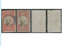 """US Revenue Stamps, 1871-72, R145, R146, Set of Two, Used, F, Handstamped """"1872"""""""