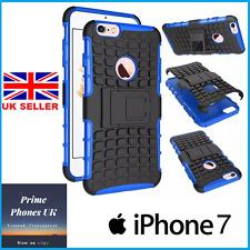 """Apple Iphone 7 4.7"""" - Delgado Duro armadura soporte Protector caso cubierta azul"""