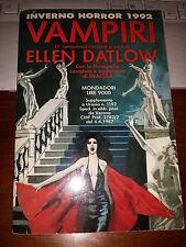 INVERNO HORROR 1992 VAMPIRI 17 sanguinari racconti ELLEN DATLON supp 1192 URANIA