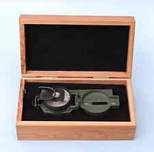 NEW USGI MILITARY CAMMENGA 3H OD GREEN TRITIUM LENSATIC COMPASS GIFT BOX