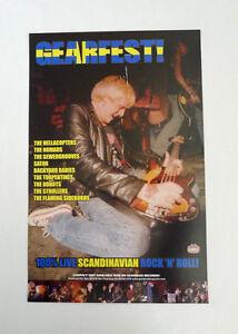 Gearfest 1999 Promo Poster Gearhead Backyard Babies Hellacopters Swedish Rock