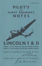 AVRO LINCOLN I & II - PILOT'S NOTES