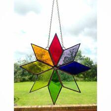 Handmade Stained Glass Star Suncatcher Tiffany Glass Multi Coloured, Gift