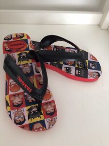 Havaianas kids boys character flip flops thongs sandals size Youth 2 NWOT