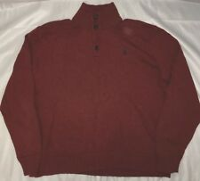 Vintage Polo Ralph Lauren Orange Shawl Pony Sweater Size XL EUC