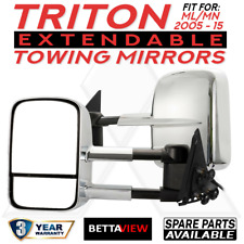 BettaView Extendable Caravan Towing Mirrors Triton ML MN 2005-2015 Chrome