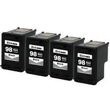4PK HP 98 Black Ink Cartridge For OfficeJet 6318 6310v 6310xi 6300 150 H470wbt
