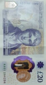 AA01 294294 £20 Note - Extremely rare repeated low serial