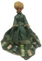 """seamstress 11"""" doll with compartments for threads and needles Rare Collectible"""