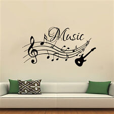 Wall Decals Music Decal Vinyl Sticker Guitar Musical Notes Pattern Clef MN230