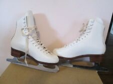 Jcp Girl'S White Figure Skates Made In Czech Republic Canada Blades Sz 3B-Only 3