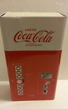 1999 Vintage Coca-Cola 4 Pc. 8 Oz. Glass Set In Coca-Cola Soda Machine Tin