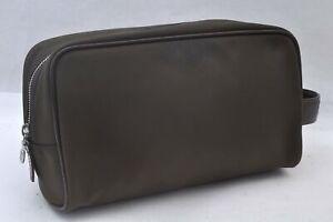 Authentic Louis Vuitton Taiga Parana Clutch Bag Brown LV A0135