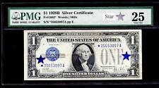 1928B 1 DOLLAR SILVER CERTIFICATE STAR NOTE (*A BLOCK) PMG 25 PLEASE LQQK!*