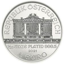 Silberbarren Münze Österreich 2021 1/25 OZ Platin PT 999,5 ? ? Philharmoniker