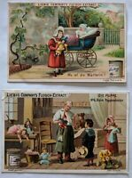 Victorian Advertising Cards Liebig Company's Fleisch-Extract -Set of 2, 1 Signed